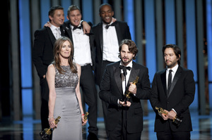 """""""The Academy Awards - 82nd Annual"""" (Telecast)Kathryn Bigelow, Mark Boal, Greg Shapiro3-7-2010Photo by Michael Yada © 2010 A.M.P.A.S. - Image 23908_0132"""