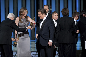 """""""The Academy Awards - 82nd Annual"""" (Telecast)Steve Martin, Kathryn Bigelow, Alec Baldwin, Brian Geraghty3-7-2010Photo by Michael Yada © 2010 A.M.P.A.S. - Image 23908_0133"""