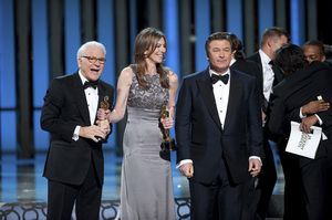 """""""The Academy Awards - 82nd Annual"""" (Telecast)Steve Martin, Kathryn Bigelow, Alec Baldwin3-7-2010Photo by Michael Yada © 2010 A.M.P.A.S. - Image 23908_0134"""