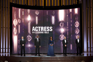 """""""The Academy Awards - 82nd Annual"""" (Telecast)Michael Sheen, Forest Whitaker, Oprah Winfrey, Stanley Tucci, Peter Sarsgaard3-7-2010Photo by Michael Yada © 2010 A.M.P.A.S. - Image 23908_0136"""