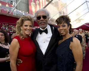 """The Academy Awards - 82nd Annual"" (Arrivals)Lori McCreary, Morgan Freeman, Morgana Freeman3-7-2010Photo by Richard Harbaugh © 2010 A.M.P.A.S. - Image 23908_0207"