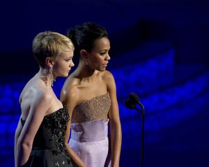 """The Academy Awards - 82nd Annual"" (Telecast)Carey Muliigan, Zoe Saldana3-7-2010Photo by Matt Petit © 2010 A.M.P.A.S. - Image 23908_0275"