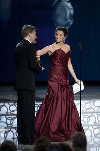 """""""The Academy Awards - 82nd Annual"""" (Telecast)Christoph Waltz, Penelope Cruz3-7-2010Photo by Michael Yada © 2010 A.M.P.A.S. - Image 23908_0288"""