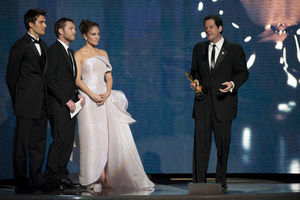 """The Academy Awards - 82nd Annual"" (Telecast)Sam Worthington, Jennifer Lopez, Michael Giacchino3-7-2010Photo by Michael Yada © 2010 A.M.P.A.S. - Image 23908_0323"
