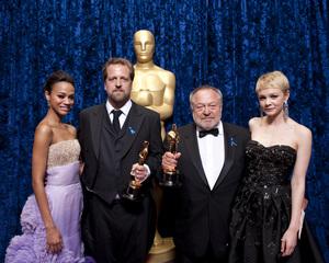 """The Academy Awards - 82nd Annual"" (Backstage)Carey Mulligan, Zoe Saldana, Joachim Back, Tivi Magnusson3-7-2010Photo by Darren Decker © 2010 A.M.P.A.S. - Image 23908_0352"