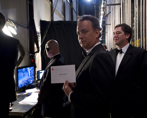 """""""The Academy Awards - 82nd Annual"""" (Backstage)Tom Hanks3-7-2010Photo by Richard Harbaugh © 2010 A.M.P.A.S. - Image 23908_0363"""