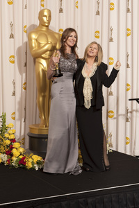 """""""The Academy Awards - 82nd Annual"""" (Press Room)Kathryn Bigelow, Barbra Streisand3-7-2010Photo by Rick Salyer © 2010 A.M.P.A.S. - Image 23908_0403"""