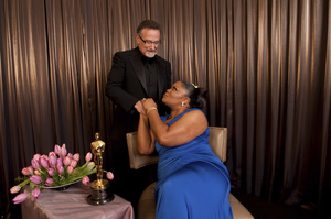 """""""The Academy Awards - 82nd Annual"""" (Backstage)Robin Williams, Mo"""