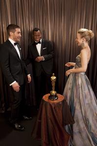 """The Academy Awards - 82nd Annual"" (Backstage)Jake Gyllenhaal, Geoffrey Fletcher, Rachel McAdams3-7-2010Photo by Todd Wawrychuk © 2010 A.M.P.A.S. - Image 23908_0432"
