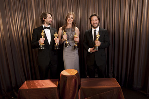 """""""The Academy Awards - 82nd Annual"""" (Backstage)Mark Boal, Kathryn Bigelow, Greg Shapiro3-7-2010Photo by Todd Wawrychuk © 2010 A.M.P.A.S. - Image 23908_0451"""