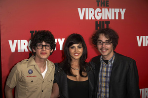"""The Virginity Hit"" Premiere Matt Bennett, Sunny Leone, Justin Kline 9-7-2010 / Regal Cinemas - LA Live / Los Angeles CA / Sony Pictures / Photo by Benny Haddad - Image 23969_0056"