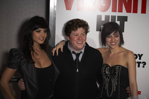 """The Virginity Hit"" Premiere Sunny Leone, Zach Pearlman, Krysta Rodriguez 9-7-2010 / Regal Cinemas - LA Live / Los Angeles CA / Sony Pictures / Photo by Benny Haddad - Image 23969_0061"
