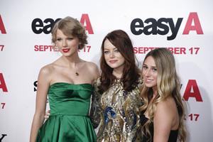 """Easy A"" Premiere Emma Stone, Taylor Swift, Ashley Avignone9-13-2010 / Grauman"