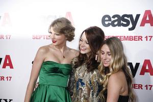 """Easy A"" Premiere Emma Stone, Taylor Swift, Ashley Avignone9-13-2010 / Grauman"