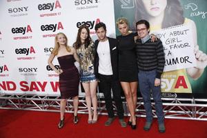 """""""Easy A"""" Premiere Emma Stone, Patricia Clarkson, Penn Badgley, Dan Byrd, Alyson Michalka9-13-2010 / Grauman"""