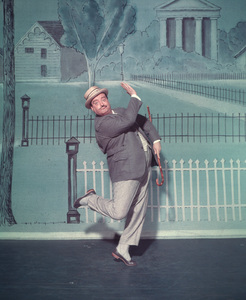 """Jackie Gleason in character for the Broadway musical """"Take Me Along"""" 11/2/59 © 2001 Mark Shaw - Image 2397_0037"""