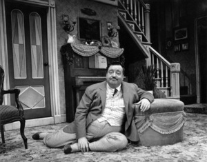 """Jackie Gleason in character for the Broadway musical """"Take Me Along"""" 11/2/59 © 2001 Mark Shaw - Image 2397_0041"""