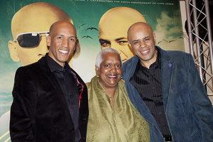 The Mendes Brothers (John Mendes, Ramiro Mendes) at The Museum of Tolerance with Varnette P. Honeywood in May of 2010 © 2010 Bobby Holland - Image 23973_0024