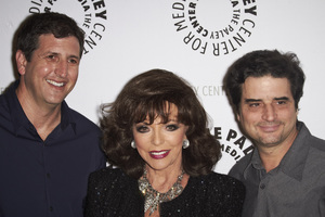 """""""Rules of Engagement Panel at The Paley Center"""" Producer Doug Robinson, Joan Collins, Producer Tom Hertz 11-4-2010 / The Paley Center for Media / Beverly Hills CA / Photo by Benny Haddad - Image 23988_0110"""
