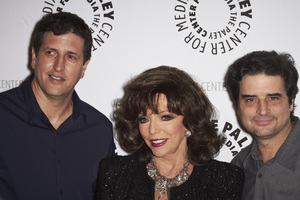 """""""Rules of Engagement Panel at The Paley Center"""" Producer Doug Robinson, Joan Collins, Producer Tom Hertz 11-4-2010 / The Paley Center for Media / Beverly Hills CA / Photo by Benny Haddad - Image 23988_0112"""