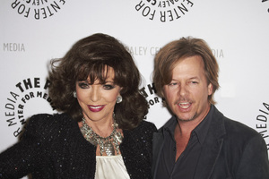 """""""Rules of Engagement Panel at The Paley Center"""" Joan Collins and David Spade11-4-2010 / The Paley Center for Media / Beverly Hills CA / Photo by Benny Haddad - Image 23988_0135"""