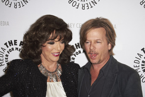 """""""Rules of Engagement Panel at The Paley Center"""" Joan Collins and David Spade11-4-2010 / The Paley Center for Media / Beverly Hills CA / Photo by Benny Haddad - Image 23988_0136"""
