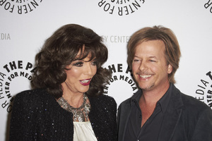 """""""Rules of Engagement Panel at The Paley Center"""" Joan Collins and David Spade11-4-2010 / The Paley Center for Media / Beverly Hills CA / Photo by Benny Haddad - Image 23988_0138"""