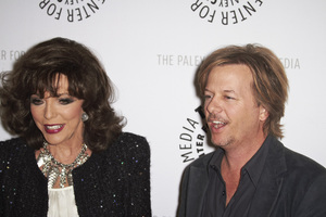 """""""Rules of Engagement Panel at The Paley Center"""" Joan Collins and David Spade11-4-2010 / The Paley Center for Media / Beverly Hills CA / Photo by Benny Haddad - Image 23988_0140"""
