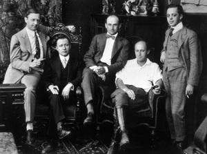 """Hollywood Famous Players""Jesse L. Lasky, Adolph Zukor, Samuel Goldwyn, Cecil B. DeMille, Al Kaufman1915 - Image 2401_0027"