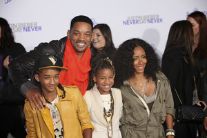 """""""Justin Bieber: Never Say Never"""" Premiere Will Smith, Jada Pinkett Smith, Jaden Smith, Willow Smith 2-8-2011 / Nokia Theater L.A. Live / Paramount Pictures / Los Angeles CA / Photo by Imeh Akpanudosen - Image 24016_0477"""