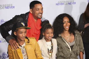 """""""Justin Bieber: Never Say Never"""" Premiere Will Smith, Jada Pinkett Smith, Jaden Smith, Willow Smith 2-8-2011 / Nokia Theater L.A. Live / Paramount Pictures / Los Angeles CA / Photo by Imeh Akpanudosen - Image 24016_0482"""