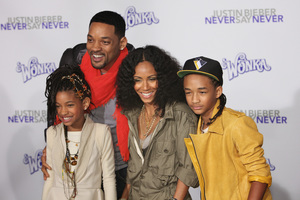 """""""Justin Bieber: Never Say Never"""" Premiere Will Smith, Jada Pinkett Smith, Jaden Smith, Willow Smith 2-8-2011 / Nokia Theater L.A. Live / Paramount Pictures / Los Angeles CA / Photo by Imeh Akpanudosen - Image 24016_0493"""