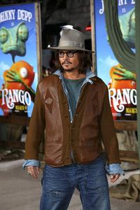 """Rango"" Premiere Johnny Depp 2-14-2011 / Paramount Studios / Village Theater / Los Angeles CA / Photo by Imeh Akpanudosen - Image 24022_0171"