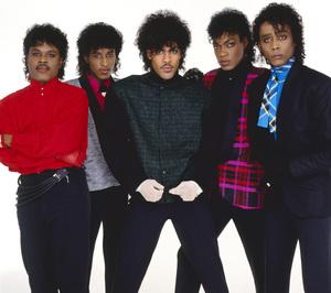 """The Deele""Darnell ""Dee"" Bristol, Kenny ""Babyface"" Edmonds, Carlos ""Satin"" Greene, Antonio ""L.A."" Reid, Kevin ""Kayo"" Roberson 1985 © 1985 Bobby Holland - Image 24025_0003"