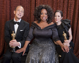"""The Academy Awards - 83rd Annual"" (Backstage) Charles Ferguson, Audrey Marrs, Oprah Winfrey2-27-2011Photo by Tom Wawrychuk © 2011 A.M.P.A.S. - Image 24036_0203"