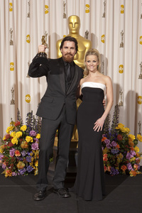 """""""The Academy Awards - 83rd Annual"""" (Press Room) Christian Bale, Reese Witherspoon2-27-2011Photo by Rick Salyer © 2011 A.M.P.A.S. - Image 24036_0270"""