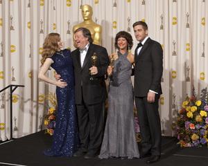 """The Academy Awards - 83rd Annual"" (Press Room) Amy Adams, Kirk Simon, Karen Goodman, Jake Gyllenhaal2-27-2011Photo by Rick Salyer © 2011 A.M.P.A.S. - Image 24036_0277"
