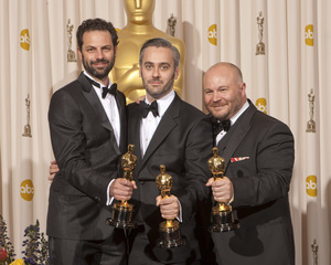 """""""The Academy Awards - 83rd Annual"""" (Press Room) Iain Canning, Emile Sherman, Gareth Unwin2-27-2011Photo by Rick Salyer © 2011 A.M.P.A.S. - Image 24036_0282"""