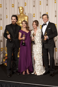 """""""The Academy Awards - 83rd Annual"""" (Press Room) Christian Bale, Natalie Portman, Melissa Leo, Colin Firth2-27-2011Photo by Rick Salyer © 2011 A.M.P.A.S. - Image 24036_0283"""