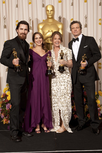 """""""The Academy Awards - 83rd Annual"""" (Press Room) Christian Bale, Natalie Portman, Melissa Leo, Colin Firth2-27-2011Photo by Rick Salyer © 2011 A.M.P.A.S. - Image 24036_0284"""