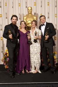 """""""The Academy Awards - 83rd Annual"""" (Press Room) Christian Bale, Natalie Portman, Melissa Leo, Colin Firth2-27-2011Photo by Rick Salyer © 2011 A.M.P.A.S. - Image 24036_0285"""