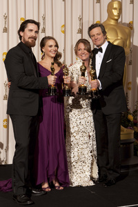 """""""The Academy Awards - 83rd Annual"""" (Press Room) Christian Bale, Natalie Portman, Melissa Leo, Colin Firth2-27-2011Photo by Rick Salyer © 2011 A.M.P.A.S. - Image 24036_0287"""