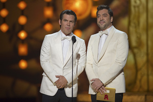 """""""The Academy Awards - 83rd Annual"""" (Telecast) Josh Brolin, Javier Bardem02-27-2011 Photo by Michael Yada © 2011 A.M.P.A.S. - Image 24036_0311"""