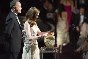 """The Academy Awards - 83rd Annual"" (Telecast) Anne Hathaway, Edward Enriquez-Cohen02-27-2011 Photo by Darren Decker © 2011 A.M.P.A.S. - Image 24036_0316"
