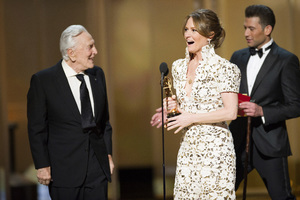 """The Academy Awards - 83rd Annual"" (Telecast) Kirk Douglas, Melissa Leo02-27-2011 Photo by Michael Yada © 2011 A.M.P.A.S. - Image 24036_0336"