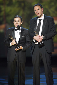 """""""The Academy Awards - 83rd Annual"""" (Telecast) Shaun Tan, Andrew Ruhemann02-27-2011 Photo by Michael Yada © 2011 A.M.P.A.S. - Image 24036_0341"""