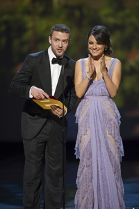 """""""The Academy Awards - 83rd Annual"""" (Telecast) Justin Timberlake, Mila Kunis02-27-2011 Photo by Michael Yada © 2011 A.M.P.A.S. - Image 24036_0342"""