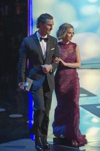 """The Academy Awards - 83rd Annual"" (Telecast) Matthew McConaughey, Scarlett Johansson02-27-2011 Photo by Darren Decker © 2011 A.M.P.A.S. - Image 24036_0359"