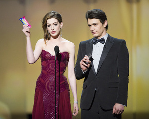"""""""The Academy Awards - 83rd Annual"""" (Telecast) Anne Hathaway, James Franco02-27-2011 Photo by Michael Yada © 2011 A.M.P.A.S. - Image 24036_0381"""