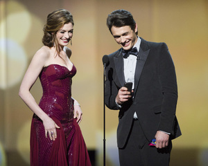 """""""The Academy Awards - 83rd Annual"""" (Telecast) Anne Hathaway, James Franco02-27-2011 Photo by Michael Yada © 2011 A.M.P.A.S. - Image 24036_0382"""
